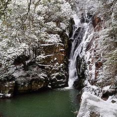 佛通寺・冬の昇雲の滝