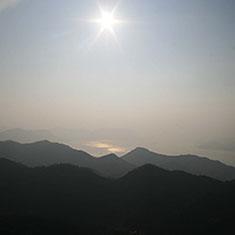 白滝山から望む風景
