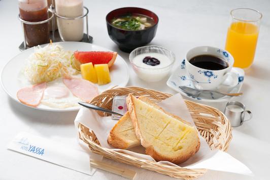 朝食(洋食)栄養バランスの取れた手作りの朝食