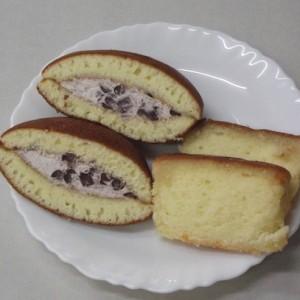 「白竜どらどら」と「ブランデーたっぷりケーキ」