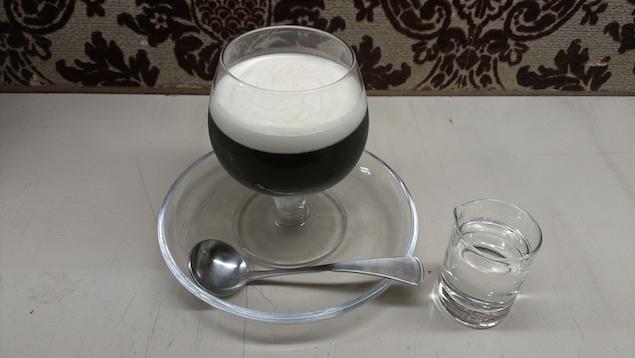 手づくりコーヒーゼリー シロップとミルクも手づくりです。