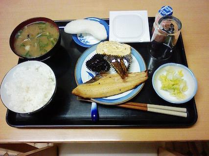 朝食 朝からボリューム満点の健康食です。(朝食 6:50~8:00)