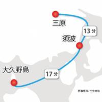 三原港・須波港から大久野島までの航路