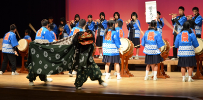 幸崎中学校獅子太鼓