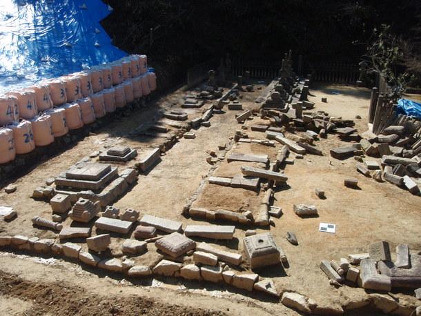 西日本豪雨災害後の状態(米山寺クラウドファンディング写真参照)