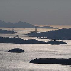 瀬戸内海に浮かぶ島々