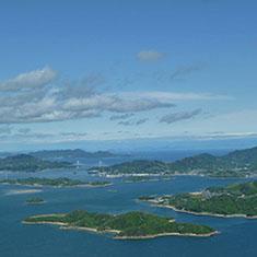 竜王山から望む瀬戸内海