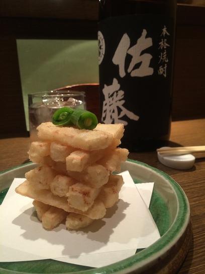 定番メニュー フライド山芋600円
